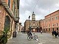 Italie, Ravenne, Piazza del Popolo, Banca Di Romagna, Palazzo Rasponi dal Sale et l'horloge (48087011096).jpg