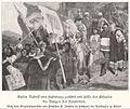 JANSSEN (c.1882) Festsaal im Erfurter Rathaus. Kaiser Rudolf von Habsburg zerstört mit Hilfe der Erfurter die Burgen der Raubritter.jpg