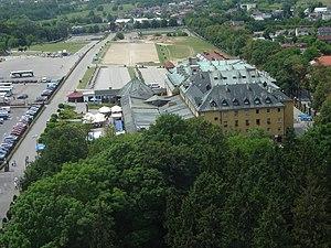 Dom Pielgrzyma, widok z wieży jasnogórskiej