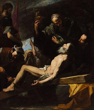 Tenebrism - Martyrdom of St Andrew by Jusepe de Ribera, 1628
