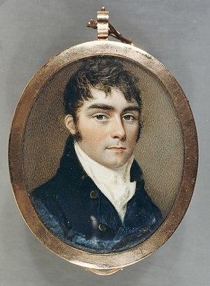 Sir John Lubbock, 2nd Baronet - Oval portrait miniature of John William Lubbock, 2nd Baronet