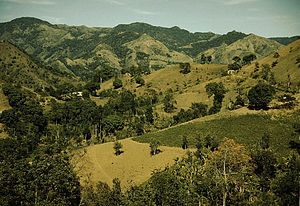 View of Cordillera Central in Corozal, Puerto Rico, by Jack Delano in 1941.