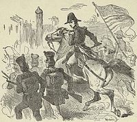 Jackson and his soldiers entering Pensacola on November 6, 1814