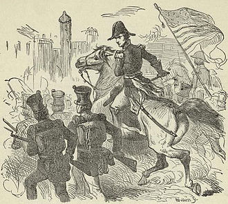 Battle of Pensacola (1814) - Jackson and his soldiers entering Pensacola on November 6, 1814