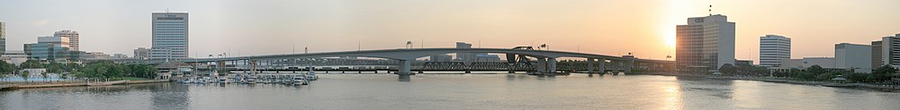 Jacksonville Acosta Bridge Panorama