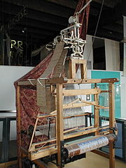 Jacquard loom on display at Museum of Science and Industry in Manchester, England