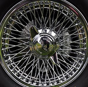 Rudge-Whitworth - Rudge-Whitworth wire wheel on a Jaguar