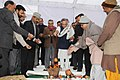 Jairam Ramesh performing the 'Bhumi Phujan' for construction of new building for Ministry of Environment and Forests coming up at Aliganj, in New Delhi on January 06, 2011 (1).jpg