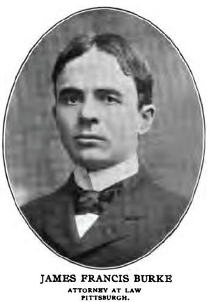 College Republicans - James Francis Burke, 1901.