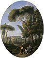 Jan Frans van Bloemen (1662-1749) - A Classical Landscape with a Traveller and Two Women Conversing, a Town in the Distance - 608998 - National Trust.jpg