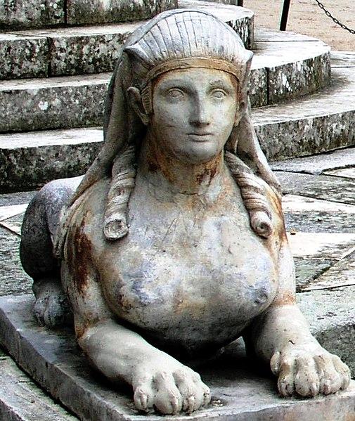 File:Jardin El Capricho Sfinxs at Plaza de los Emperadores05 cropped.jpg