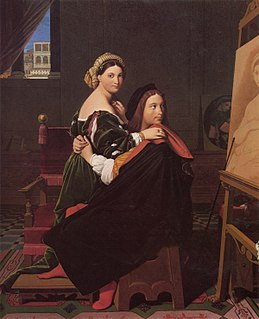 <i>Raphael and La Fornarina</i> Painting by Jean-Auguste-Dominique Ingres