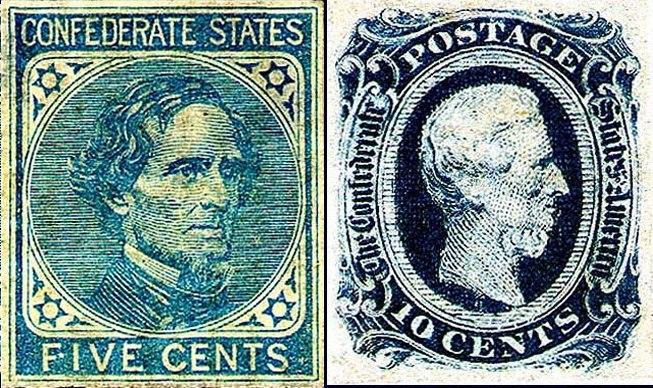 Jefferson Davis in CSA Stamps