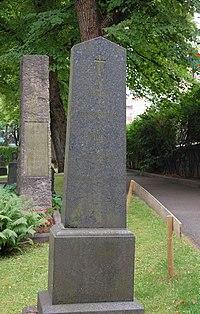 Jens Andreas Friis, gravminne på Vår Frelsers gravlund, Oslo.jpg