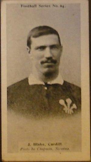 Jere Blake - Blake in Wales jersey