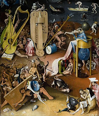 Deep Purple (Deep Purple album) - A detail of the right panel of the triptych The Garden of Earthly Delights painted in the late 15th century by Dutch master Hieronymus Bosch, depicting Hell in a highly symbolic fashion.