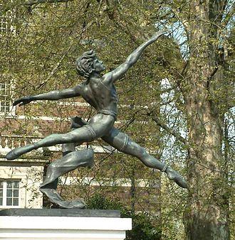 Enzo Plazzotta - Jeté, a bronze on Millbank, Westminster, London.