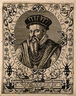 Joannes Posthius. Line engraving by (E. N.), 1645. Wellcome V0004760.jpg