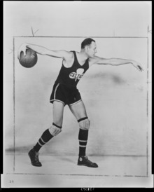 Photograph of Joe Lapchick in Celtic uniform, 1922
