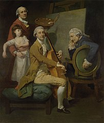 Self-Portrait with His Daughter Maria Theresa, James Cervetto, and Giacobbe Cervetto