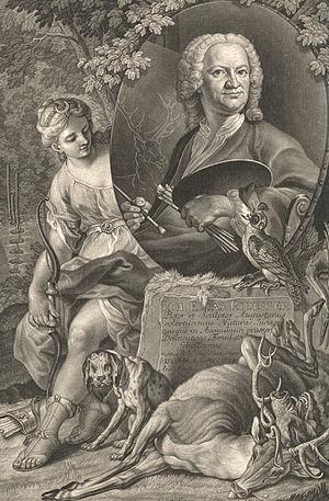 Johann Elias Ridinger - A mezzotint of Johann Elias Ridinger in c. 1750