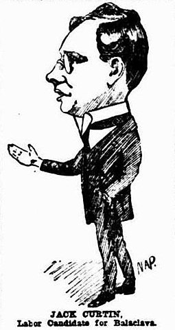Caricature of Curtin in 1914 (Truth) John Curtin cartoon.jpg