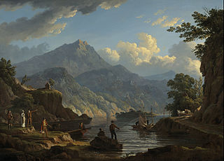 Landscape with Tourists at Loch Katrine