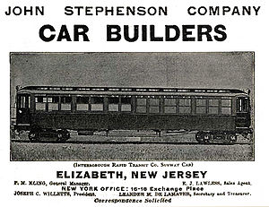 John Stephenson Company - Advertisement from 1903
