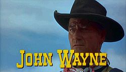 John Wayne en The Searchers