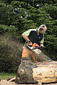 Jonnychainsaw during a chainsaw art demonstration in Scotland 01.jpg
