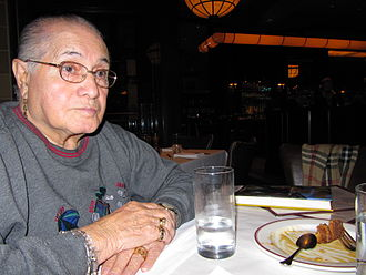 José Sarria - Jose Sarria dines in Kenmore Square during 2010 visit to Boston