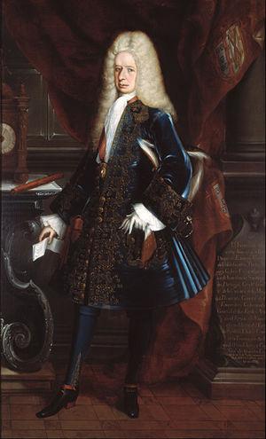 Fernando de Alencastre, 1st Duke of Linares - Fernando de Alencastre Noroña y Silva, duque de Linares y marqués de Valdefuentes by Juan Rodríguez Juárez ca 1717.