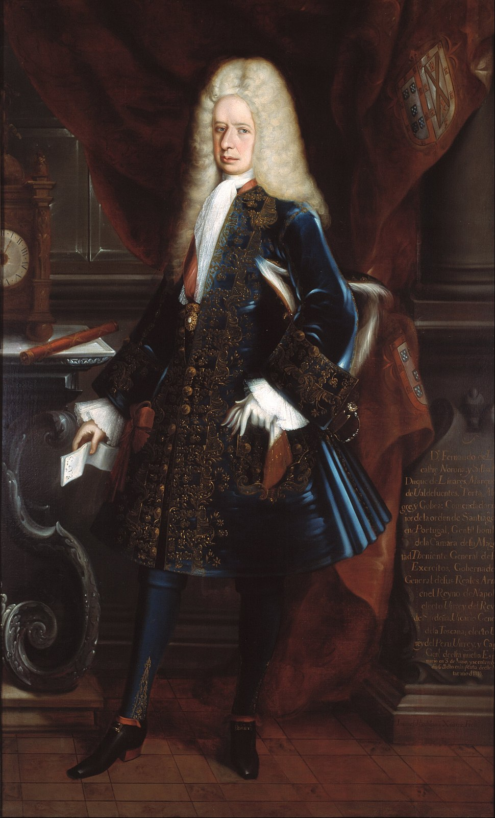Juan Rodríguez Juárez - Portrait of the Viceroy, the Duke of Linares - Google Art Project