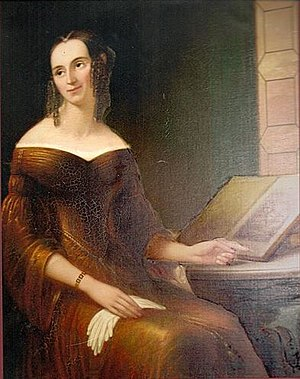 Francesco Anelli - Image: Julia Lawrence 1809 1873, painted by F. Anelli, circa 1838