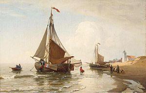 Julius Huth - Unloading the catch, Katwijk Aan Zee.jpg