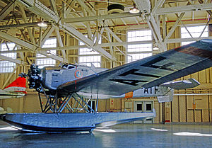 Canadian Airways - Junkers W.34 preserved in Canadian Airways markings on floats at the Canada Aviation Museum at Rockcliffe near Ottawa