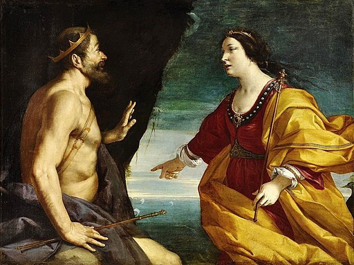 Juno and King Aeolus at the Cave of winds by Antonio Randa
