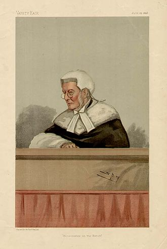 Alfred Wills - Wills caricatured by Spy for Vanity Fair, 1896