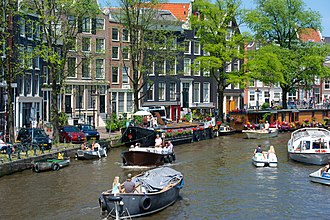 Canals of Amsterdam - Boats on the Prinsengracht, 2013