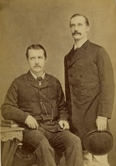 KITLV 124863 - Kinsbergen , Batavia - Two European men in Batavia - 1870-1890.tif