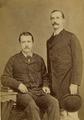 KITLV 124863 - Kinsbergen , Batavia - Two European men in Batavia - 1870-1890.tif