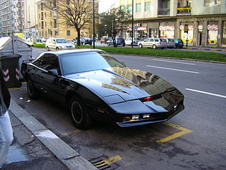 Knight Rider (1982 TV series) - A black Pontiac Firebird Trans Am built to mimic KITT from the TV series Knight Rider.