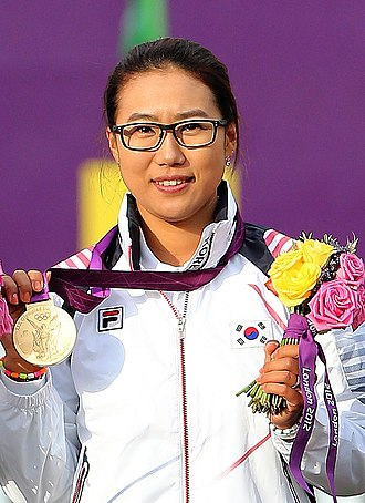 Lee Sung-jin - Image: KOCIS Korea London Olympic Archery Womenteam 17 (7682349056)