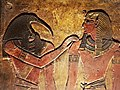 KV17, the tomb of Pharaoh Seti I of the Nineteenth Dynasty, Burial chamber J, the King before Thot, Valley of the Kings, Egypt (49845802023).jpg