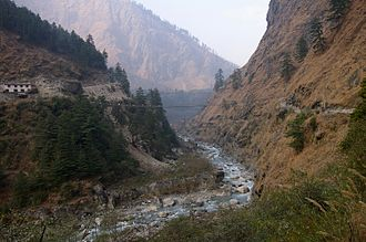 Kali Gandaki Gorge - Kali Gandaki Gorge near Ghassa village, Nepal