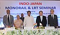 Kamal Nath, the Senior Vice Minister of Land, Infrastructure, Transport and Tourism, Govt. of Japan, Mr. Hiroshi Kajiyama, the Chief Minister of Delhi, Smt. Sheila Dikshit, the Secretary, Ministry of Urban Development.jpg
