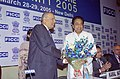 Kamal Nath is being welcomed at the inauguration of the India Infrastructure Summit 2005, organised jointly by the Department of Industrial Policy & Promotion.jpg