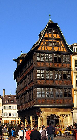 The House Kammerzell is a timber framing build...