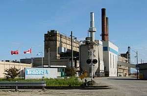 English: Tembec mill in Kapuskasing, Ontario, ...