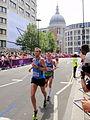 Kari Steinn Karlsson (Iceland) ^ Primoz Kobe (Slovenia) - London 2012 Men's Marathon.jpg